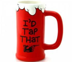 I'd Tap That Ceramic Beer Stein Tankard
